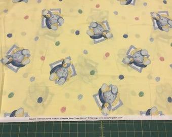 "Daisy Kingdom Chenille Bear Toss fabric.  1 yard + 24"""