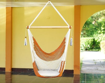 Natural Orange Hammock Chair Indoor