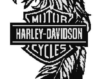 Harley davidson logo Etsy