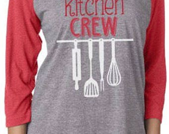 Holiday Kitchen Crew Raglan Shirts