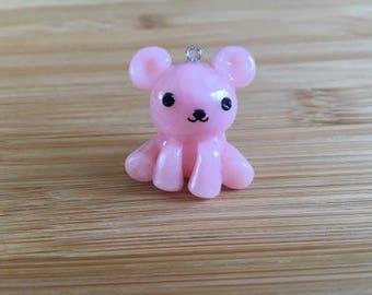 Pink Bear Charm