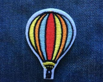 Hot air ballon embroidered iron-on patch