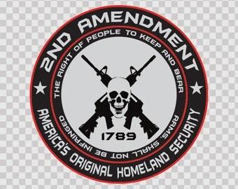 Sticker Decals 2nd Amendment - America's Original Homeland Security Round 80168