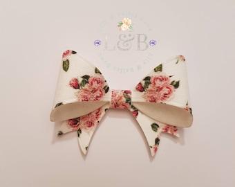 floral kiss hair bow