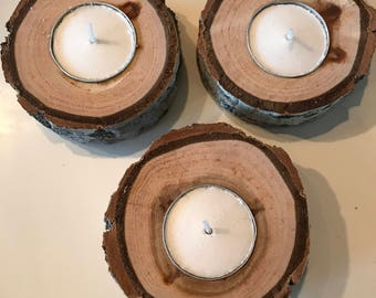 Live Edge Candle Holder