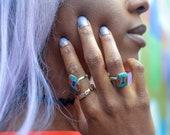 Lupita Ring, stone ring, turquoise ring, ethnic rings