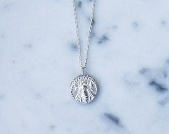 Melissae Sterling Silver Bee Necklace