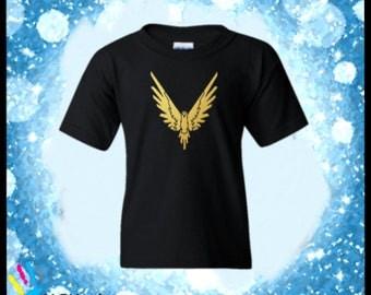 Logang Logan Paul Kids Shirt-Maverick Gold Logo- Kids Hoodie. Custom Shirts.
