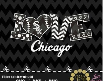 Chicago White Sox baseball svg,png,dxf,cricut,silhouette,jersey,shirt,proud,birthday,invitation,sports,cut,girl,love,softball,2018 new,decal