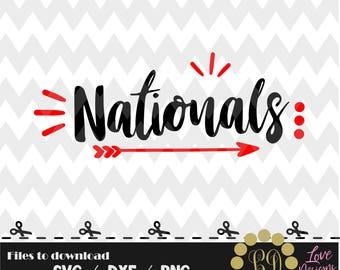 Nationals svg,png,dxf,cricut,silhouette,college,jersey,shirt,proud,cut,university,baseball,softball,arrow,decal,state,washington,capitals