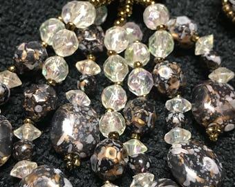 Vintage dangling bead earring