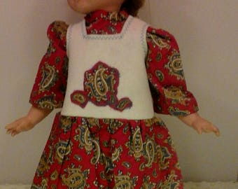 Red paisley jumper set