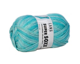 Super Soxx color cahmere sock yarn from Lang yarns 100 g