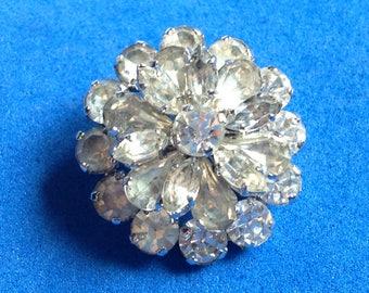 Vintage! Sparkling rhinestone pin. Made in Austria.
