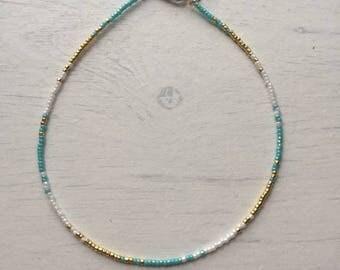 Dainty handmade beaded ankle bracelet/anklet