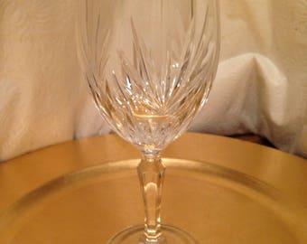 Vintage Crystal White Wine glasses