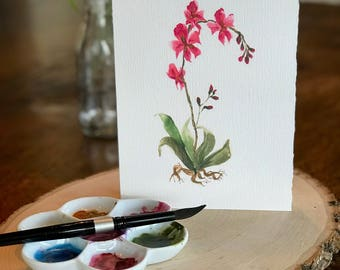 Loose floral Watercolor orchid