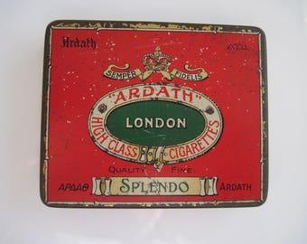 Ardath Appao Splendo Oriental Blend cigarette tin (20/empty) by Ardath Co Ltd  c.1920