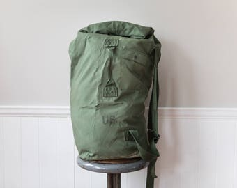 Large Military Duffle Bag // US Vintage Style Military Duffle Backpack Bag // US // Army Green // Extra Large