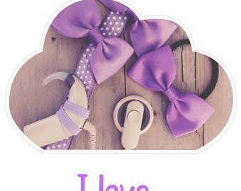 Headband I love Purple