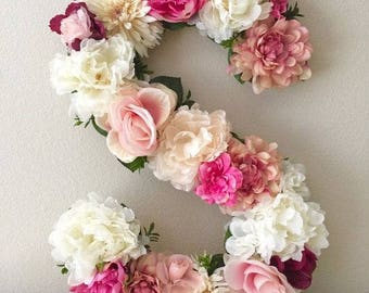 Home decor floral letters