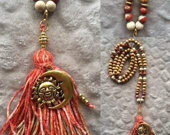 Red Jasper mala necklace