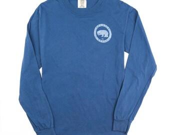 Midnight Blue Logo Long Sleeve t-shirt