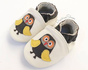 Baby Soft Sole Leather Shoes Infant Moccasins Baby Boy/Girl Owl Shoes Toddler First Walker Soft Sole