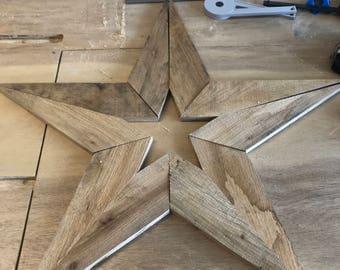 Reclaimed wood star