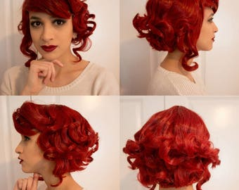Red Transistor Cosplay Wig
