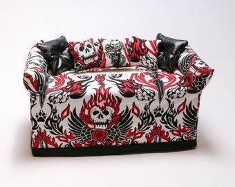 Skull And Fire Tissue Box Cover