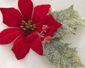 Poinsettia Flower Headband
