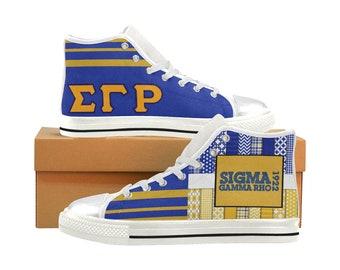 Sigma Gamma Rho High Top / Low Top Sneakers (shoe runs large, view size chart)