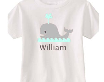 Personalized Whale Shirt Boys Tee