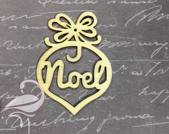 Wooden Tag Noel - 70 x 100mm