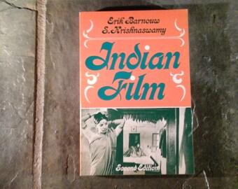 "Book ""Indian Film"" 1980 Erick Barnouw S Krishnaswamy Second Edition Softcover Filmmaking Film History Satyajit Ray"