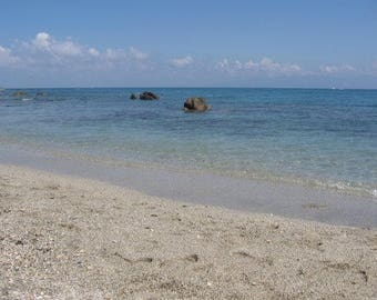 Calm Blue Beach in Calabria, Italy