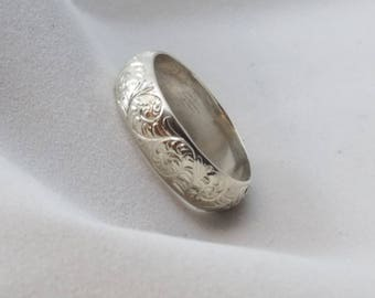 Jewelry, Hand engraved Sterling Silver Ring