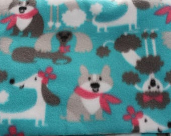 Fleece dog blanket  puppy printfree shipping