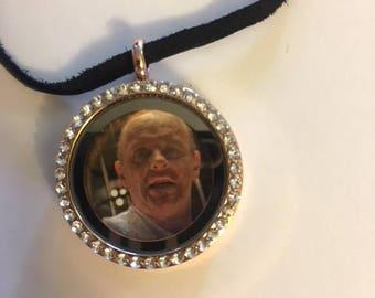 Hannibal Lecter choker/necklace(quarter sized)