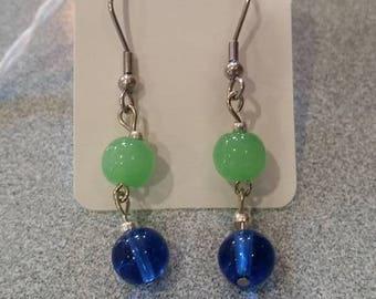 Green & Blue Earrings