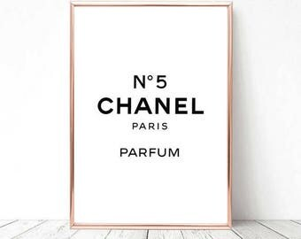 Chanel no 5 Print, Printable Art, Poster Print, Minimalistic Poster, Printable quote, Print, Wall Art, Home Decor