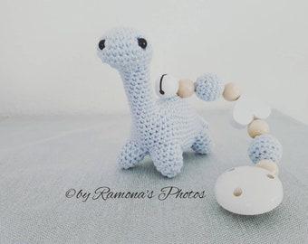 Maxicosikette-Stroller Chain-Dino-stroller chain Crochet