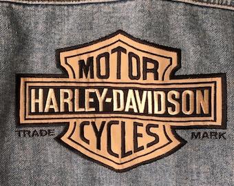 Vintage Harley Davidson Jean Jacket Medium Perfectly Worn In