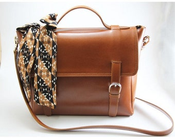 Women's Leather-bag Leather Mj Brown Color