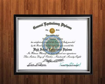 high school diploma  diplomas ged custom novelty diplomas 100% authentic looking created from real certificates