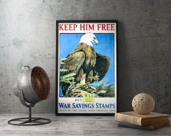 Printable Poster - American Propaganda, WW1 Propaganda, war propaganda, propaganda posters, printable art, american history, vintage posters
