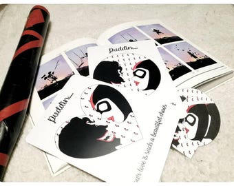 Harley Quinn and the Joker - Valentine's day card