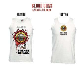 Guns N ' Roses: Tank Blood guns 15-6-2018 Gnr Italian