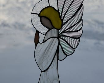 Stained Glass Angel Sun Catcher